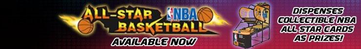 NBA All Star Basketball DX Card Arcade Machine
