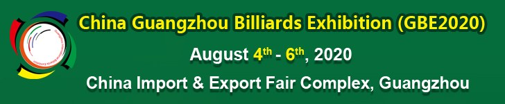 14th China Guangzhou Billiards Exhibition (GBE) 2020