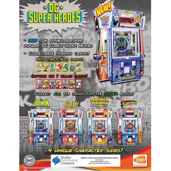Bandai Namco unveils DC Superheroes arcade game - Flyer