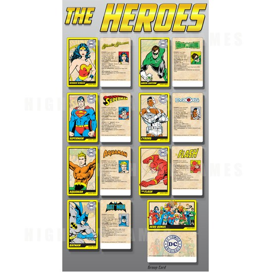 Bandai Namco unveils DC Superheroes arcade game - The Hero collectible cards