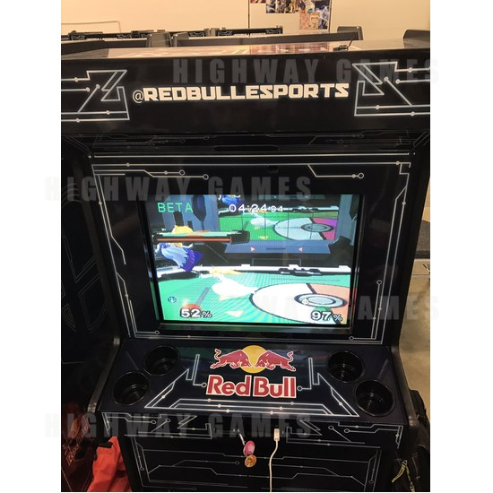 Red Bull turned Super Smash Bros. Melee into an arcade game - The Super Smash Bros. Melee arcade cabinet by Red Bull Esport. Picture: Alex Jebailey