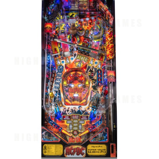 Stern Announces AC/DC Premium LUCI Pinball Model Now Available! - Playfield - 1