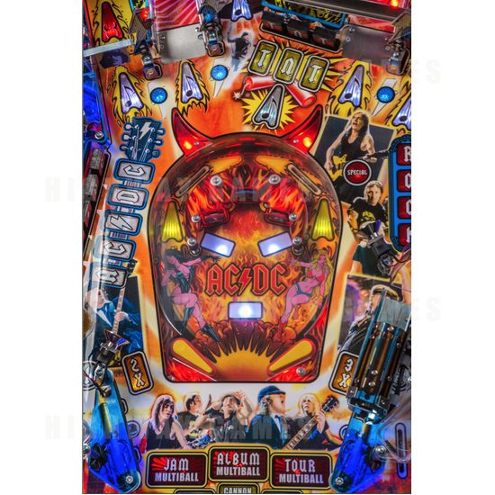 Stern Announces AC/DC Premium LUCI Pinball Model Now Available! - Lower Playfield