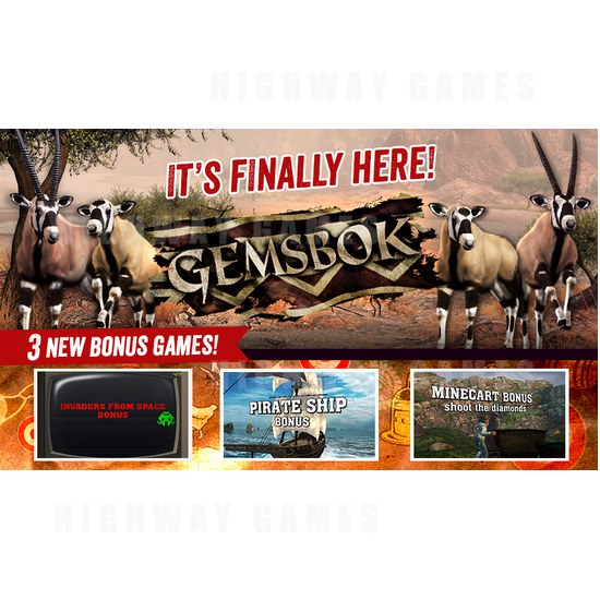 New Big Buck HD content released in time for Twitch mini-doco - Gemsbok is the latest Big Buck HD arcade game