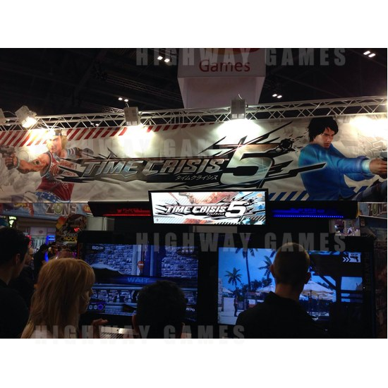 EAG International 2015 Wrap Up - Time Crisis 5 Arcade Machine - Bandai Namco - EAG International 2015 - 1