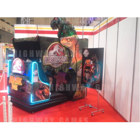 JAEPO 2015 Show Wrap Up - Jurassic Park Motion Delux Cabinet at Raw Thrills booth - JAEPO 2015 Show