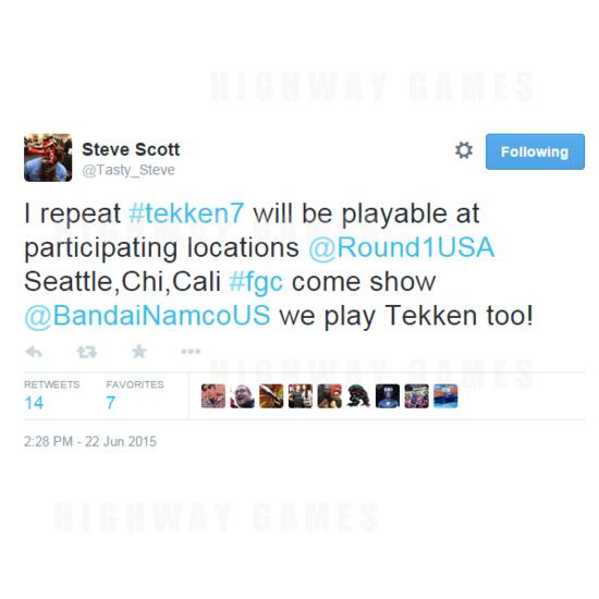 Tekken 7 USA Location Testing Confirmed For Early July - Tekken 7 Location Testing Tweet