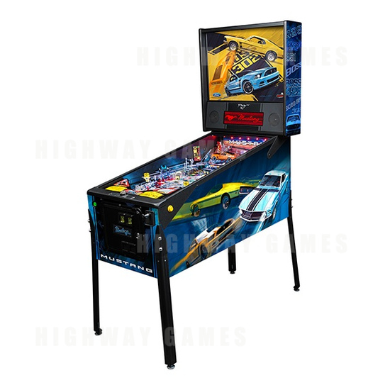Stern Annouced Today Availability of the Mustang Pro, Premium and Limited Edition Pinballs. - Boss Premium Cabinet