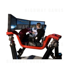 First installation of Cruden's new Hexatech 3CTR interactive race car simulator at new Weston--Super--Mare Grand Pier