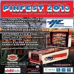 Newcastle Pinball Association Hosting Pinfest 2013