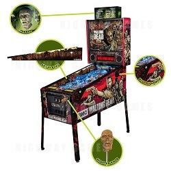 The Walking Dead Pro Pinball Machine and Stern Custom Accessories