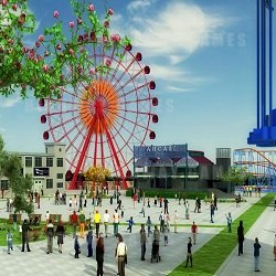 An artist impression of what the Sydney's Wonderland theme park could look like.