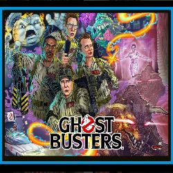 Leak of Rumoured Ghostbusters Pinball Machine Backglass by Stern