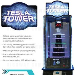 Benchmark Games will show Tesla Tower at Amusement Expo International