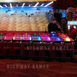 A 19-player camel derby game has been installed at Coral Island in the UK