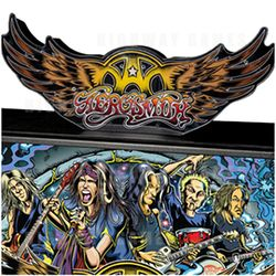 The Aerosmith Pinball topper is an optional accessory