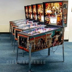 The first production of 'The Mafia' cabinets. Image: Pinball News.