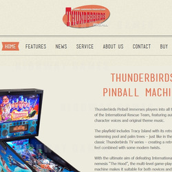 Section of the Thunderbirds Pinball Website