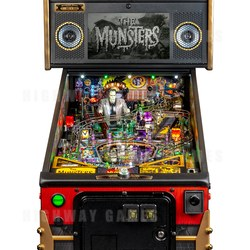 The Munsters Pinball Machine Limited Edition Cabinet Close-up