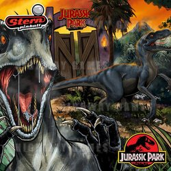 Stern's Jurassic Park Premium Edition Backglass Artwork