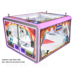Shining Cube Crane Machine has an interactive top-down view to keep players engaged.