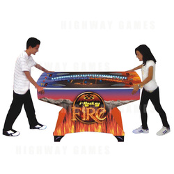 i-Hockey Arcade Machine - Fire Model