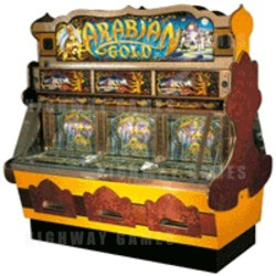Arabian Gold Pusher Coin Pusher Medal Machine by Whittaker